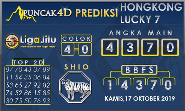 PREDIKSI TOGEL HONGKONG LUCKY7 PUNCAK4D 17 OKTOBER 2019