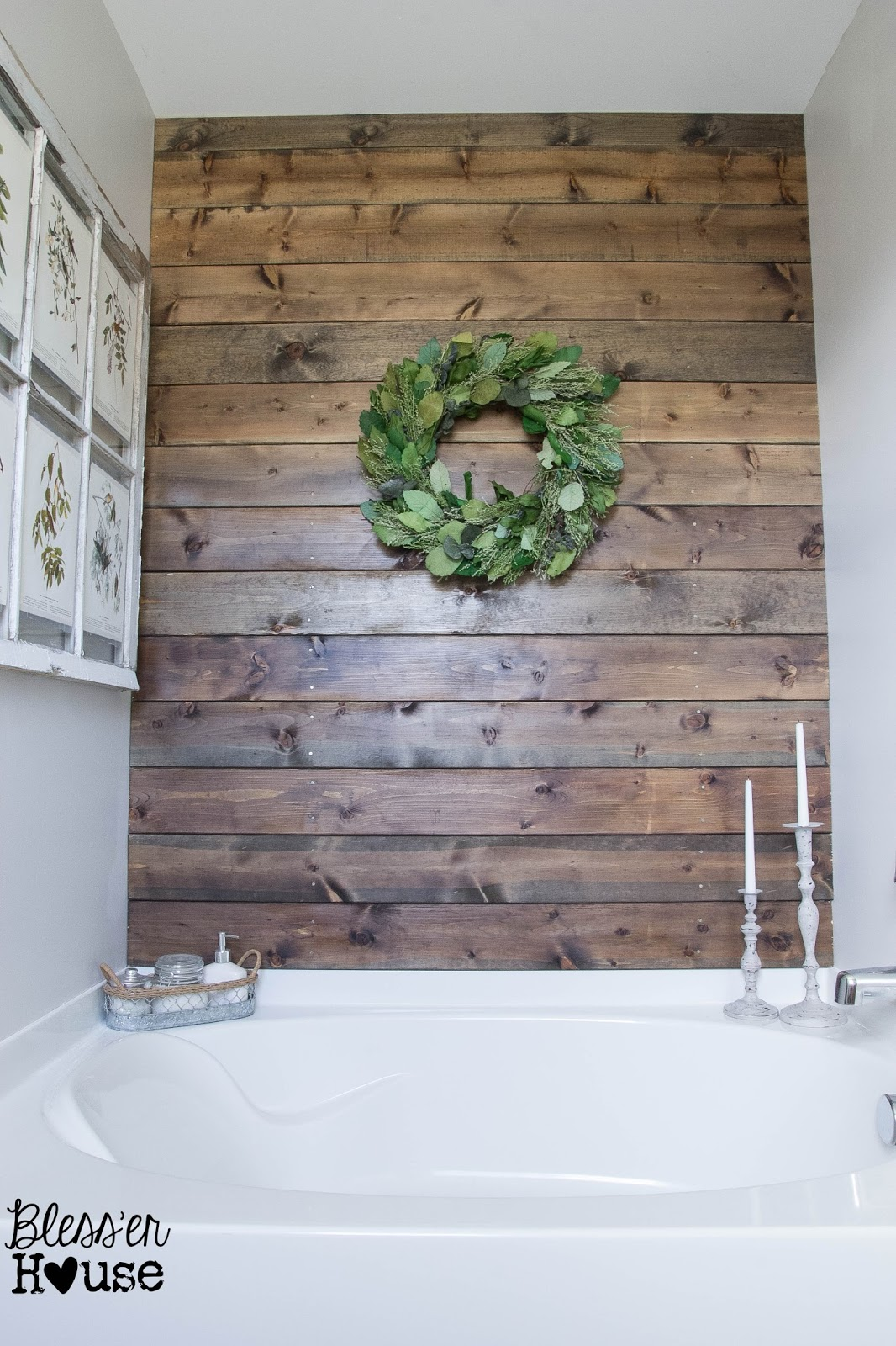 Bless'er House | How to Install a Plank Wall in a Bathroom