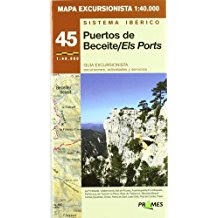 Mapa excursionista , Puertos de Beceite , els Ports, Lo Port, Prames