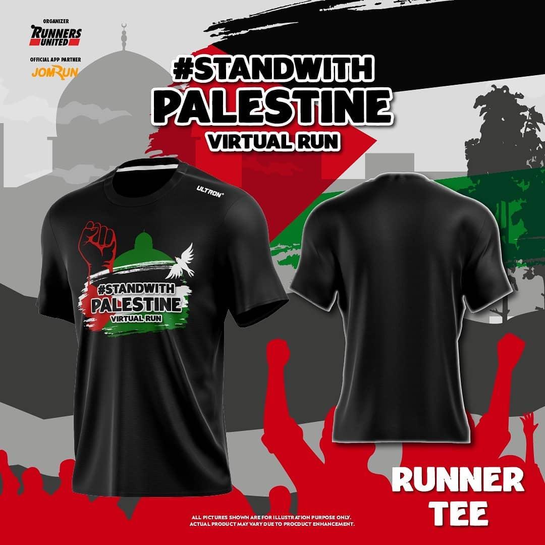 Running Tee 👕 Stand With Palestine Virtual Run - Indonesia • 2021