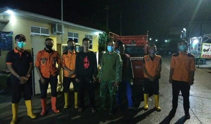 Koramil 0219/Cikande bersama BPDB Kabupaten Serang Tinjau Lokasi Banjir Susulan