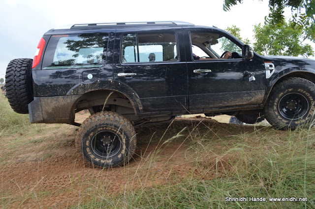 Vishnu's Ford Endeavor with Maxxis off road tyres in action