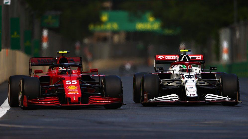 Sainz teve que lutar para passar por Giovinazzi antes de terminar P8