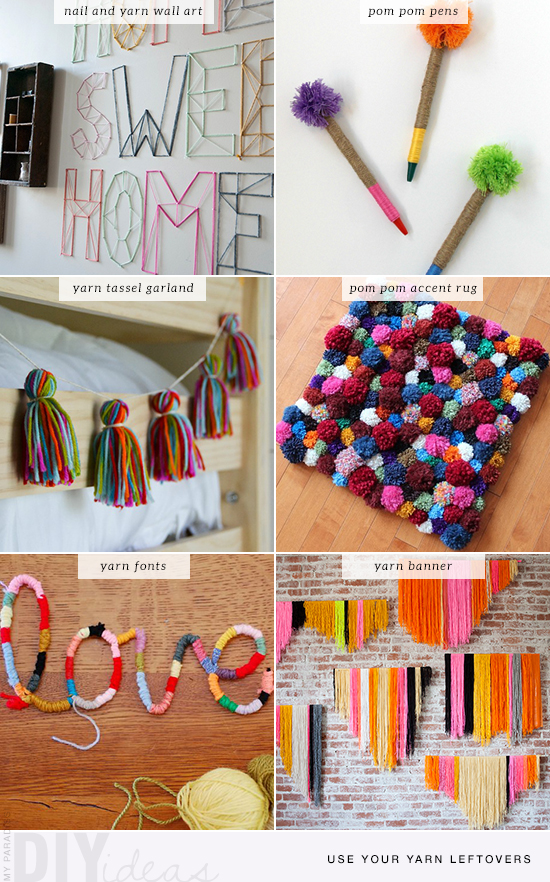 6 fun and easy no-knit diy tutorials to do with your yarn leftovers | My Paradissi