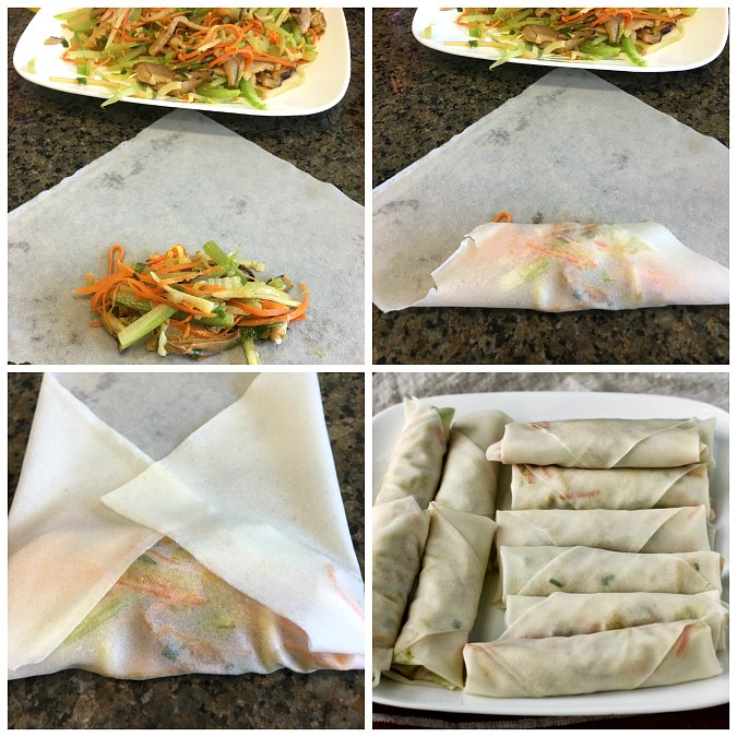 How to assemble spring rolls