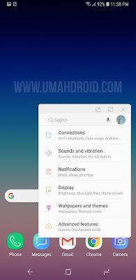 Menggunakan Popup View Android Samsung