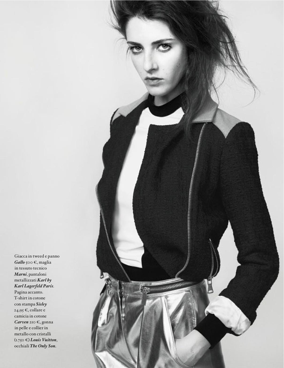 Carla Ciffoni Layers In Fall Knitwear For Elle Uk By: Punto Di Fusione: Charlotte Coquelin And Carla Ciffoni By