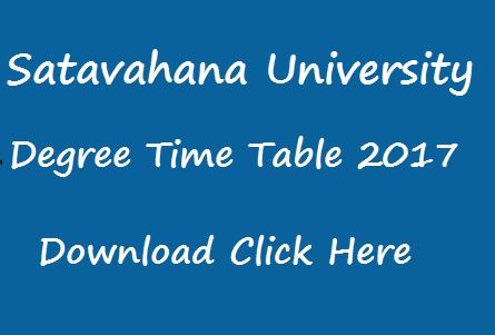satavahana university degree exam time table 2017 manabadi