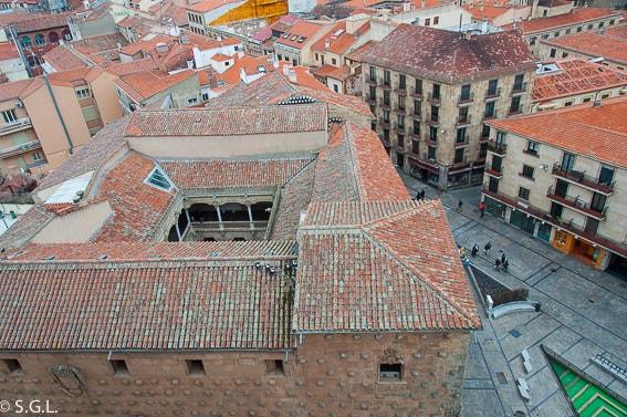 Salamanca. Casa de las conchas desde la torre de la clerecia