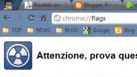 Pagine Chrome:// con strumenti avanzati e funzioni sperimentali