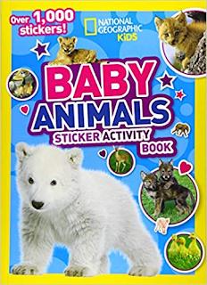 baby animals, baby animals book, animal sticker book, national geographic kids book