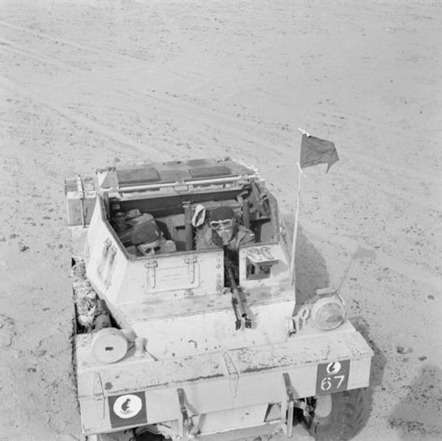 British scout car in North Africa 28 April 1942 worldwartwo.filminspector.com