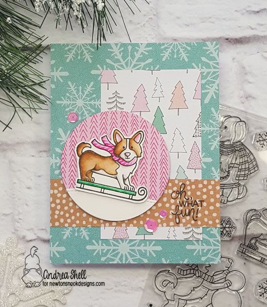Oh what fun by Andrea features Winter Woofs by Newton's Nook Designs; #newtonsnook