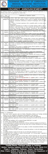 Medical Teaching Institution MTI Peshawar Jobs 2020