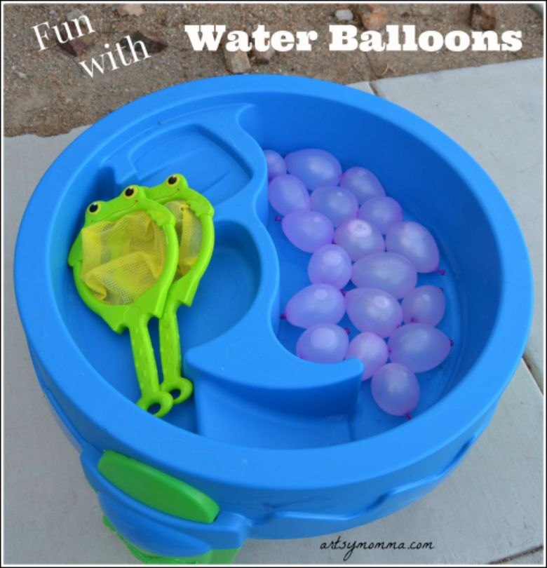 water balloon tennis water activity for kids