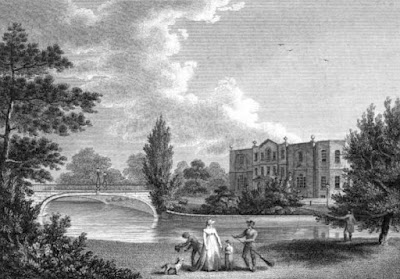 Merton Place in Surrey  in The Seats of the Nobility and Gentry by W Angus (c1801)