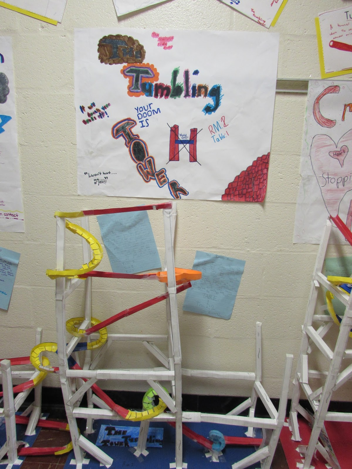 how to build a roller coaster with paper