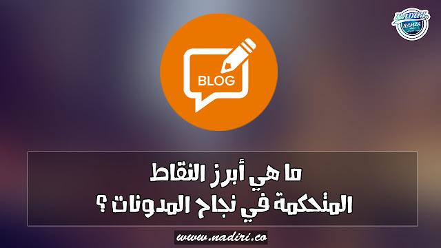 ما هي أبرز النقاط المتحكمة في نجاح المدونات ؟