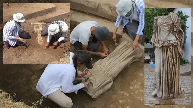 1,800-year-old statue found in ancient Metropolis