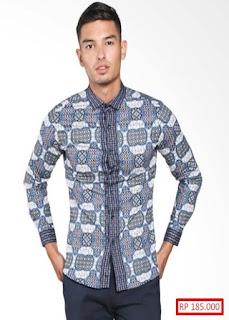 Gambar Baju Batik Cowok Lengan Panjang