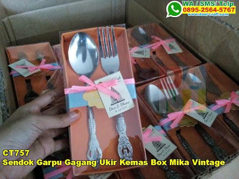 Harga Sendok Garpu Gagang Ukir Kemas Box Mika Vintage