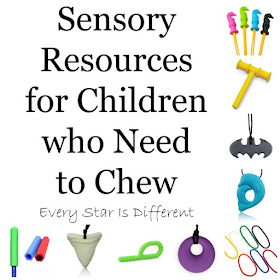 Sensory Resources for Children who Need to Chew