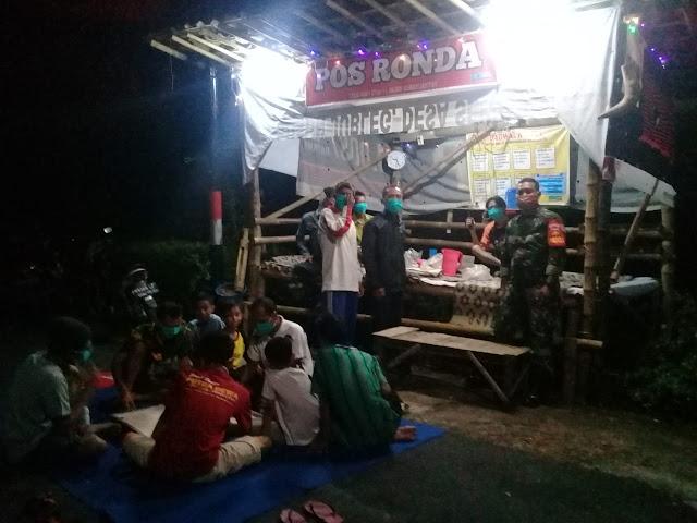 KodimKaranganyar - Babinsa Bejen Patroli Malam di Wilayah Binaan