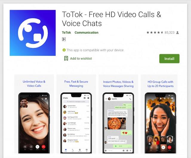 تطبيق توتوك ( ToTok) للمحادثة يعود من جديد لمتجر جوجل بلاي رغم ما حدث...
