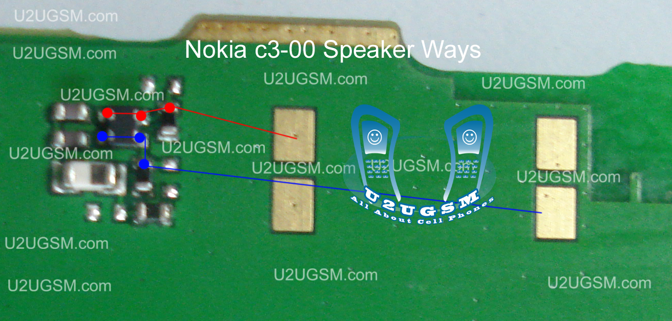 Cell Firmware Nokia C3 00 Speaker Earpiece Not Working Problem Solution Jumpers