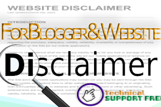 How to add Disclaimer in blogger with complete Guide.
