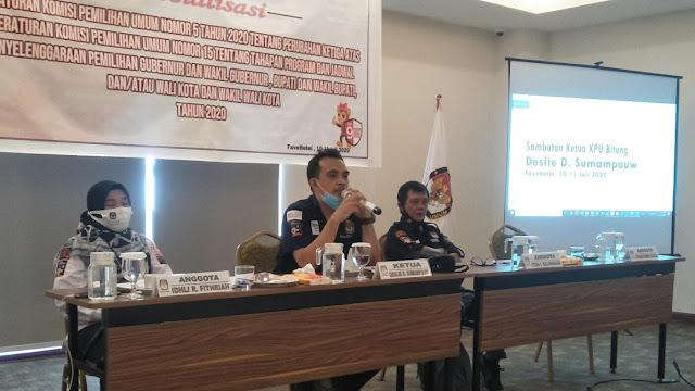 Sosialisasi PKPU Nomor 5 Tahun 2020 Oleh KPU Bitung Jamin Hak Suara & Kesehatan Pemilih