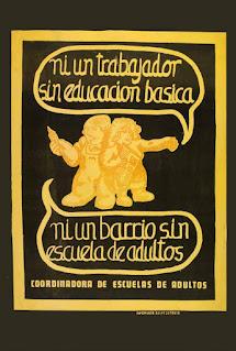 Cartell de 1978 de la Coordinadora d'Escoles d'Adults