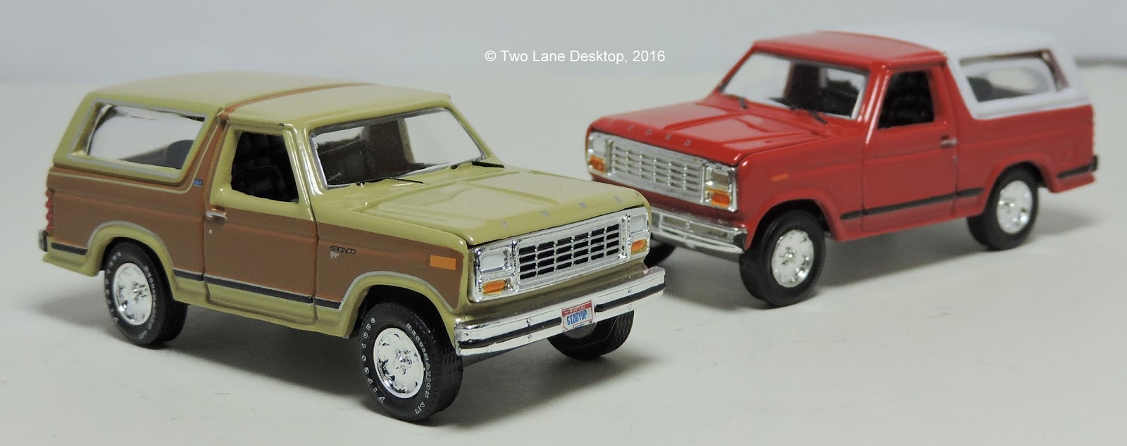 Racing Champions Mint 1980 Ford Bronco Two Lane Desktop Lifted As For The Larger Sibling In 1980s Not Many Replicas Have Been Made Hot Wheels A Rugged Version With Plastic Roof Section At Rear