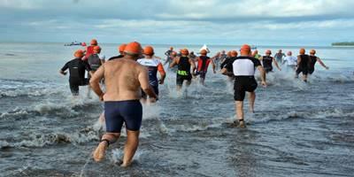 Danrem 032/Wbr Ikuti Pariaman International Triathlon'18