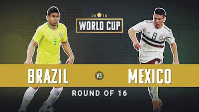 BRAZIL VS MEXICO LIVE STREAM WORLD CUP 2 JULY 2018