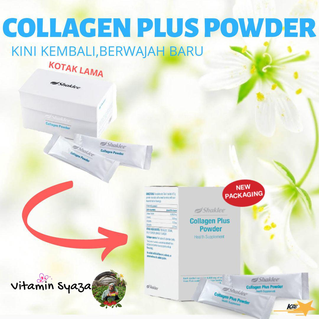 shaklee collagen plus powder fungsi keistimewaan dan testimoni