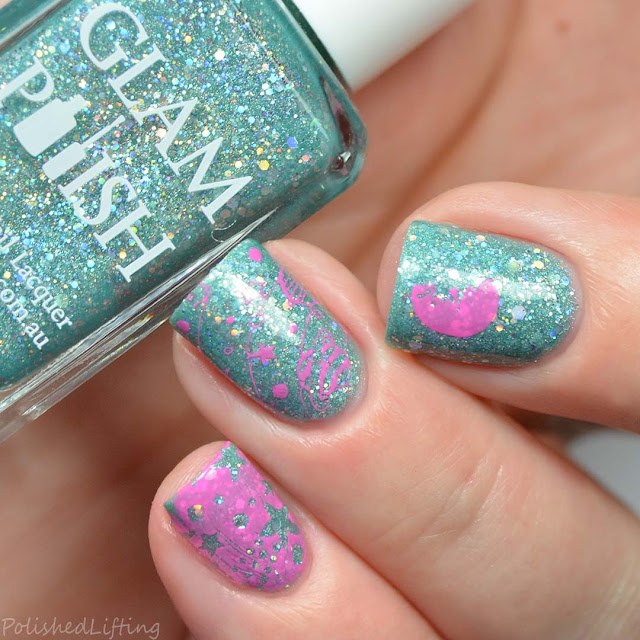 pastel space nail art