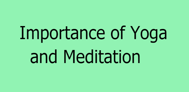 Yoga and Meditation Importance in Life : Potent Duo