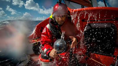Yann Riou, media man à bord de Dongfeng sur la dernière Volvo Ocean Race.