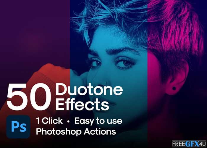 50 Duotone Photoshop Actions