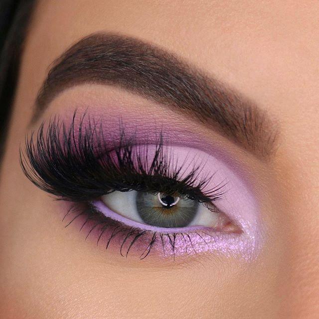 Maquiagem sombra lilac