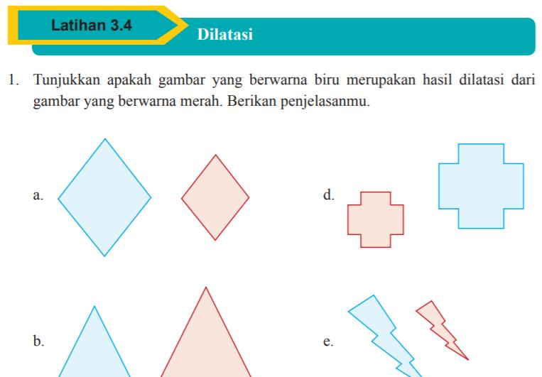 Jawaban Latihan 3 4 Halaman 179 Matematika Kelas 9 Dilatasi Bastechinfo