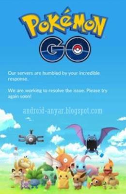 Kenapa tidak bisa buka game Pokemon GO server down maintenance error