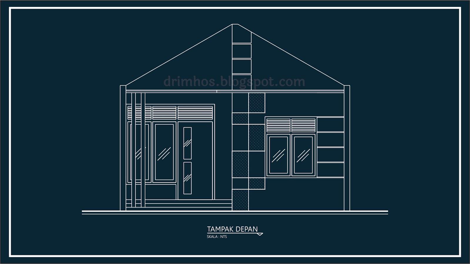 Denah Dan Tampak Depan Rumah Type 36 | Top Rumah