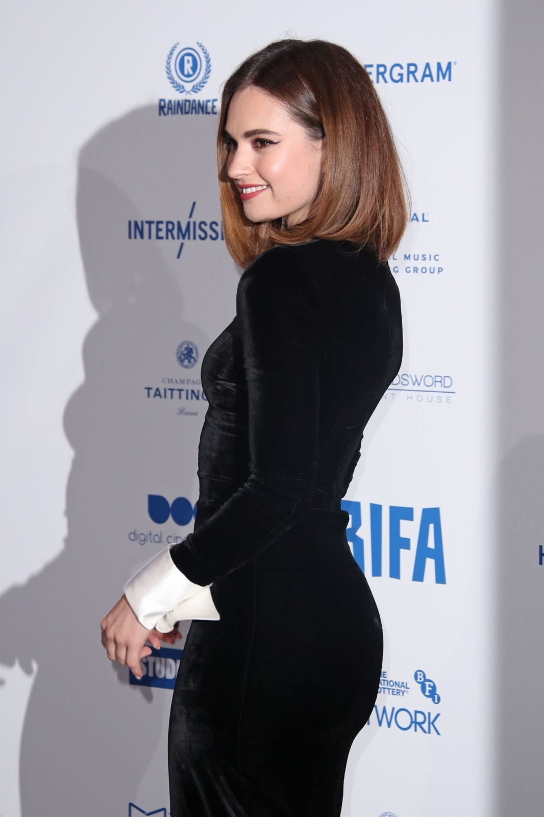 Lily attending the 22nd British Independent Film Awards