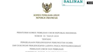 Download PKPU RI Nomor 35 Tahun 2018