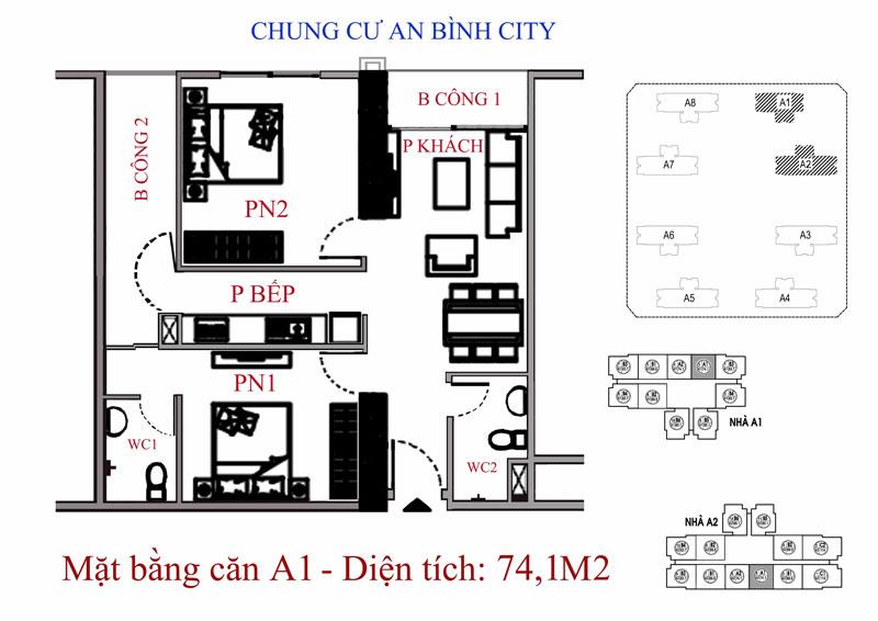 Mặt bằng dự án chung cư An Bình City