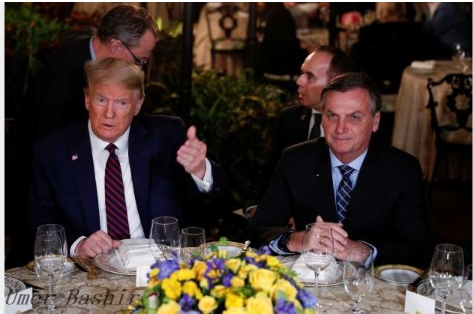 Trump aide Brazil Bolsonaro says he hopes the US president will be re-elected