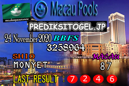 Prediksi Togel Wangsit Macau Pools Selasa 24 November 2020