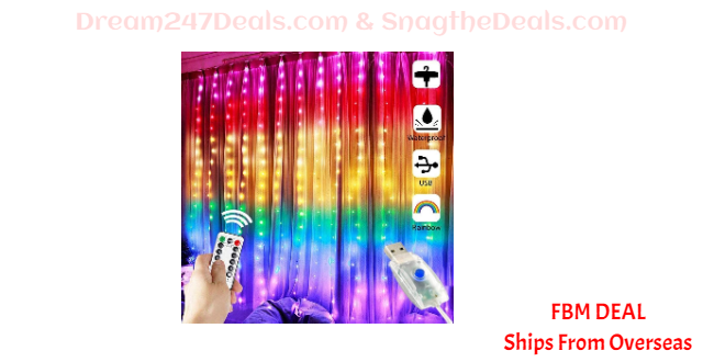 80%  off Copper Wire Curtain Light USB with Remote Control